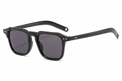 Men's Black Square Preppy Sunglasses