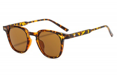 Rounded Preppy Sunglasses in Brown Tortoiseshell
