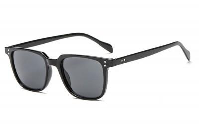 Men's Classic Black Square Sunglasses