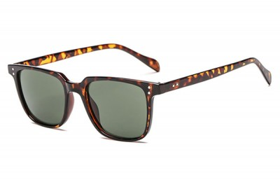 Men's Classic Tortoiseshell Brown Square Sunglasses