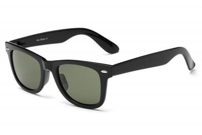 Men's Classic Black Wayfare Style Square Sunglasses