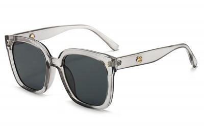 Women's Smoke Grey Transparent Clear Acetate Oversize Square Sunglasses