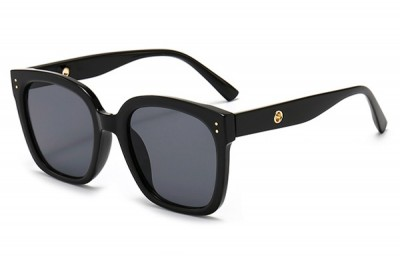 Women's Black Oversize Square Sunglasses