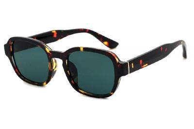 Preppy Rounded Oval Sunglasses In Dark Brown Havana Tortoiseshell