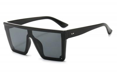 Black Oversize Square Visor Sunglasses